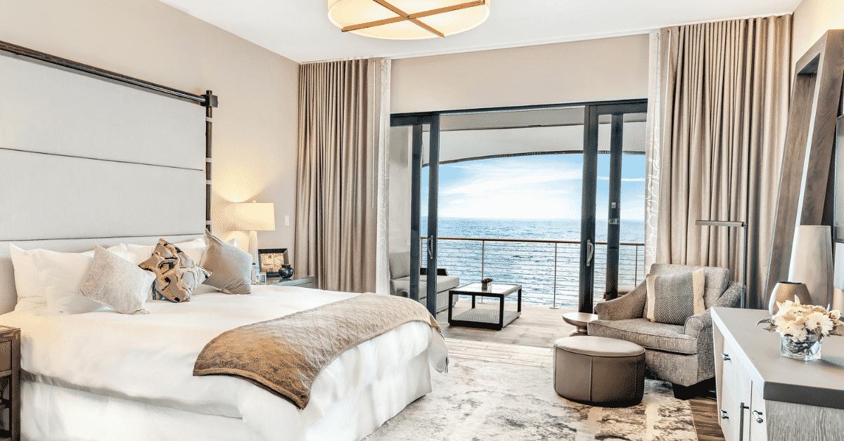 Hotel Room overlooking ocean with balcony